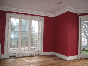 This image shows one corner of the Empire Gallery with it's lovely red walls and white cornicing. This used to be the Peninsular Wars room.