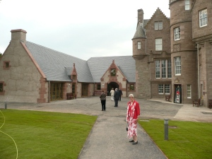 The new Black Watch Castle and Museum, with its first visitors on their way in!