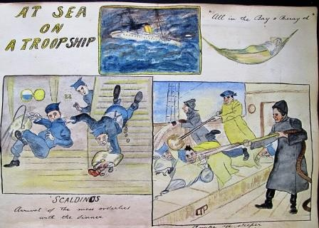 """At sea on a troopship"""