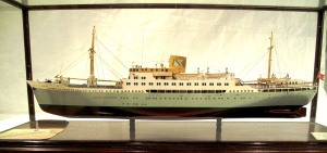 This scale model of the MV Black Watch now resides in the Collections Store at Balhousie Castle.