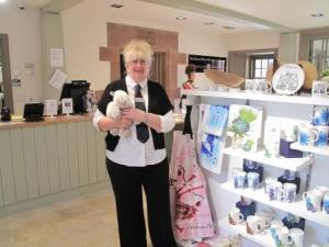 Anne's favourite item in the Shop is this sheep cuddly toy!