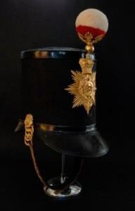 Shako of the 73rd Regiment, on display in the Day in the Life gallery at The Black Watch Castle and Museum.