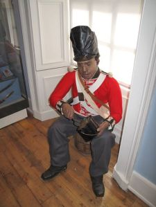 This is the figure of Sergeant George Rose, seated in our French Wars gallery, donated by the National Army Museum.