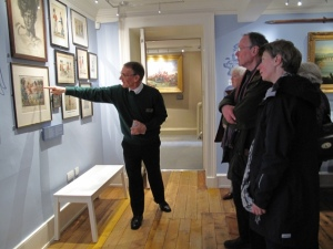 Jim Patterson guiding visitors around the Museum