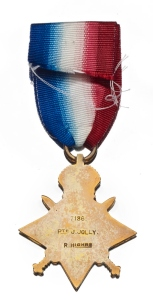 First World War medals were inscribed.
