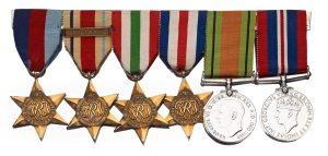 Second World War medals were not inscribed to the soldier who was awarded them.