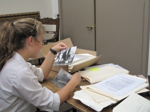 Caroline really enjoyed spending time with The Black Watch archive during her week.