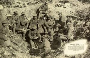 Battle_of_Somme_1916_men_of_The_Black_Watch_resting_in_a_shell_hole_near_Montauban_SMALL